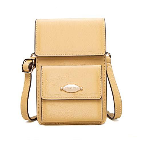 Fanshu Crossbody bolsa de teléfono monedero mini bolso de hombro para las mujeres bolso con ranuras para tarjetas RFID correa larga ajustable vintage mini bolsa tarjeta bolsa