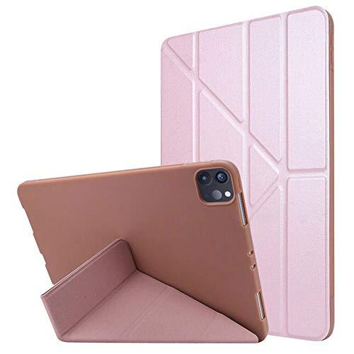 RZL Pad y Tab Fundas para iPad Air 4 10.9 Pulgadas 2020 A2316 A2324 A2325 A2072, Auto Wause Up/Sleep Folio Tablet TPU Case para iPad 4ª generación (Color : Rose Gold)