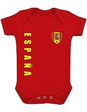 Aprom-Sports Body de España para bebé, diseño de la Eurocopa EM camiseta R Look No.10
