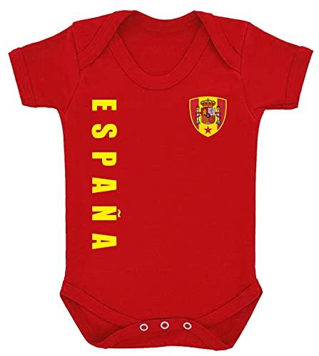 Aprom-Sports Body de España para bebé, diseño de la Eurocopa EM camiseta R Look No.10 rojo 6-12 Meses