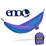 ENO - Eagles Nest Outfitters DoubleNest Lightweight Camping Hammock, 1 to 2 Person, Purple/Teal