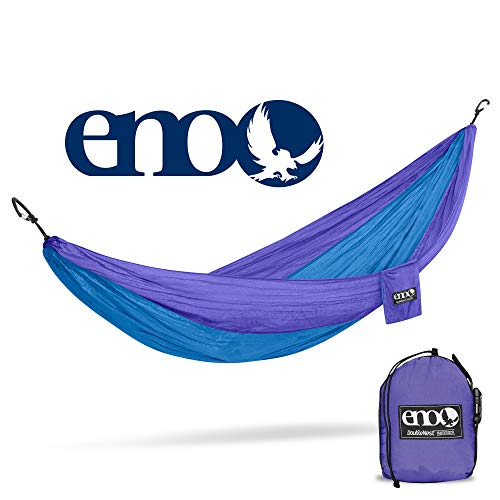ENO, Eagles Nest Outfitters DoubleNest Lightweight Camping Hammock, 1 to 2 Person, Purple/Teal