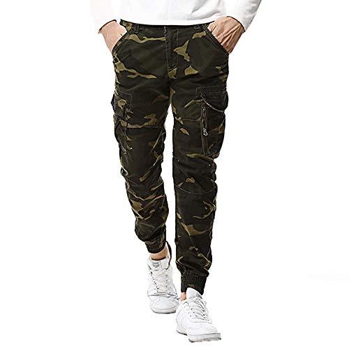 Celucke Herren Cargohosen Camouflage Militär Army Hosen Slim Fit,Männer Rangerhose Freizeithose Chinos Feldhose