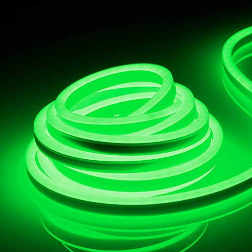 TORCHSTAR 50ft IP67 Waterproof LED Rope Light, 120V Flexible Strip Lights, (150ft Max) Linkable Neon Light for Indoor & Outdoor Decor, Ambient Decoration, Commercial Building, Green