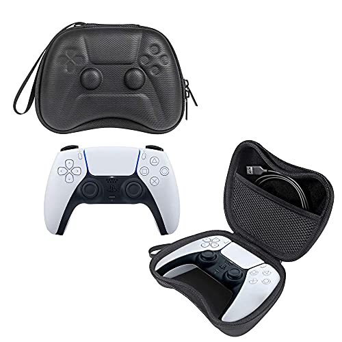 Hard Carrying Case for Sony Playstation 5 PS5 DualSense Wireless Controller, Gaming Controller Holder Travel Case Compatible with Official PS5 DualSense Wireless Controller