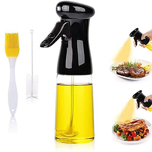 Oil Sprayer for Cooking- 1 Pack 210ml Olive Oil Sprayer,Portable Food Grade Oil Vinegar Spritzer Sprayer Bottle Spray Mister for Kitchen, Air Fryer, Salad, Baking, Grilling, Frying