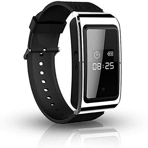 LISHUAISHUAI Bracciale Voice Recorder Attivato - HD Telecamera Nascosta Watch, indossabile del Polso del Braccialetto Attivato Audio Voice, Video Recorder (Size : 4GB)