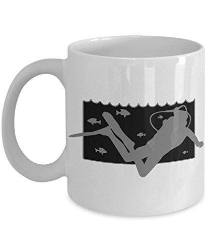 Scuba Duik Mok - Onderwater Duiker Certificering Gift - 11 oz Keramische Beker voor Koffie Thee Hot Chocolade Drankjes 11 oz