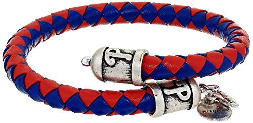 Alex and Ani Unisex Philadelphia Phillies Braided Leather Rafaelian Silver-Tone Wrap Bracelet