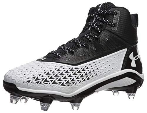 Under Armour Men's Hammer D Football Shoe, Black (001)/White, 11