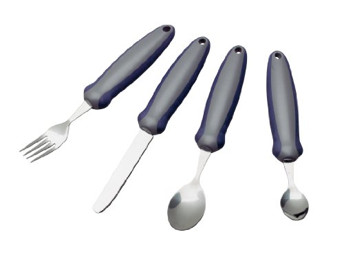 Homecraft Newstead Cutlery, Set - Retail Packed (Eligible for VAT relief in the UK) Adaptive Dining Aid, Utensil for Elderly, Disabled, Parkinson's Disease, & Arthritis, Eat Easier, Non-Slip Grip