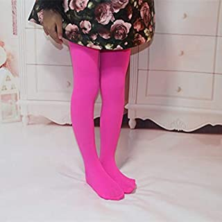 Socks Spring Summer Autumn Solid Color Pantyhose Ballet Dance Tights for Kids(White) Outdoor & Sports (Color : Rose Red)