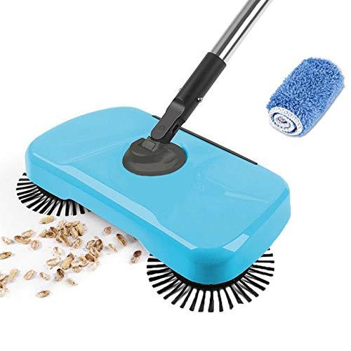 DIDIOI Robot Spazzare, Pulisci tappeti, Acciaio Inossidabile Sweeper Spinta Magica Scopa Paletta Pan Push Maniglia della Famiglia aspirapolvere lancetta