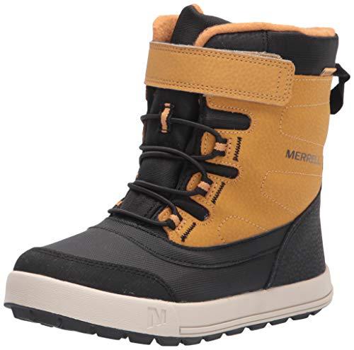 Merrell Snow Storm Waterproof Boot, Wheat, 10 US Unisex Big Kid