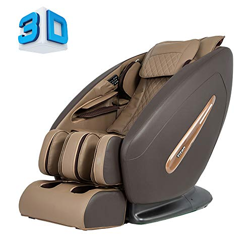Titan Pro Commander FDA 3D Massage Full Body Massage Recliner Zero Gravity Best Massage Chair Air Compressor Leg Massager (Brown)
