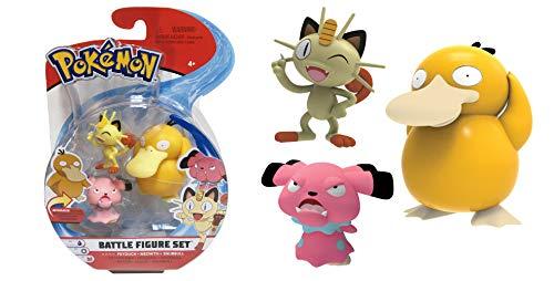 Lively Moments Pokémon Battle Pack Figuren Enton, Mauzi & Snubbull / 3 Sammelfiguren / Spielfiguren Erweiterung