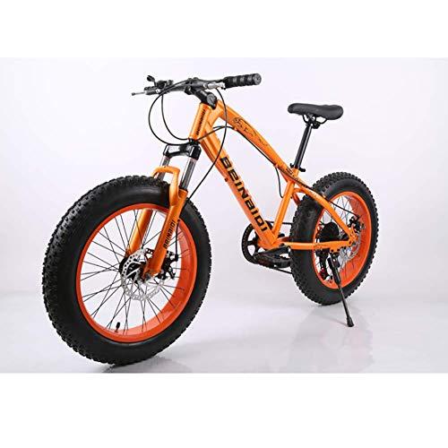 XIAOFEI Gomma Spiaggia Fat Bike 24'/ 26' di Buona qualità, Mountain Bike Nuovo Modello, Fat MTB, Snow Bike, Mountain Bike in Acciaio Alta velocità 21 velocità per Uomo,Rosso,26'