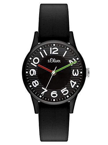 s.Oliver Damen Analog Quarz Uhr mit Silikon Armband SO-3519-PQ