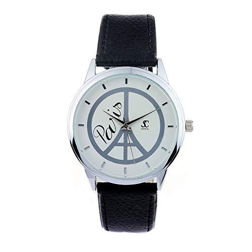 SC Crystal – Reloj para mujer, negro, ajustable, idea de regalo de...