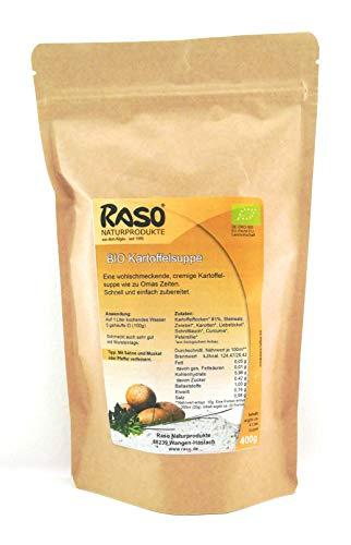 Suppe BIO Kartoffelsuppe - versandkostenfrei - 400 g. wiederverschließbare Tüte von RASO ohne Geschmacksverstärker, ohne Hefeextrakt