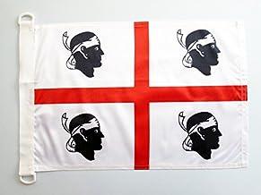 Sardinië NAUTICAL Vlag 45x30 cm - Italië - Sardijnse vlaggen 30 x 45 cm - Banner 12x18 in voor boot - AZ FLAG