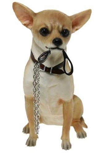Leonardo Hundefigur LP14966, Chihuahua, sitzend mit Leine im Mund
