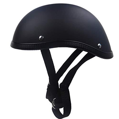 Casco semiintegral para moto unisex de DOT CertifiedSAFETY para moto de cross, scooter, ATV, casco A, XXL = 63 ~ 64 cm