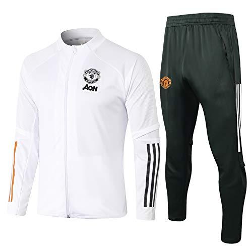 LQRYJDZ Langarm Trainingsanzüge Home Team Uniformen, Manchester United Soccer Trainingsanzug Langarmanzug Anzug Anzug Team Wettbewerb Trainingsanzug (Color : C, Size : S)