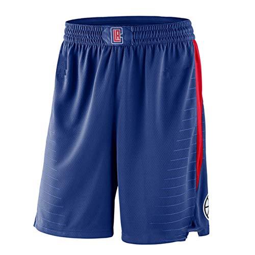 GHJK Louis Williams Los Angeles Clippers Basketball Jerseys Anzug # 23, Männer Muskel Shorts Qualitäts-Gewebe atmungsaktiv Stickerei Sportswear Geschenk, neutral (Oben/Pants Blue-S