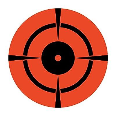 "Neon Red Orange 3"" Inch Bullseye Shooting Target/250 Targets"