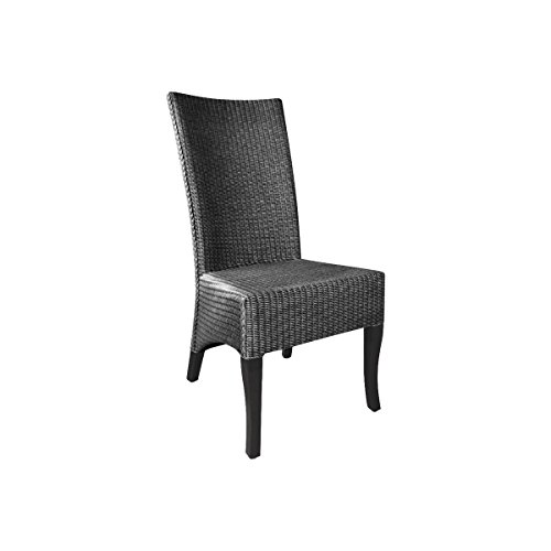 AUBRY GASPARD Chaise en Loom Grise