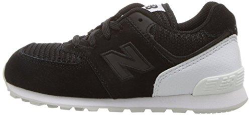New Balance Kid's KL574 Sneaker, Black/White, 10 M US Toddler