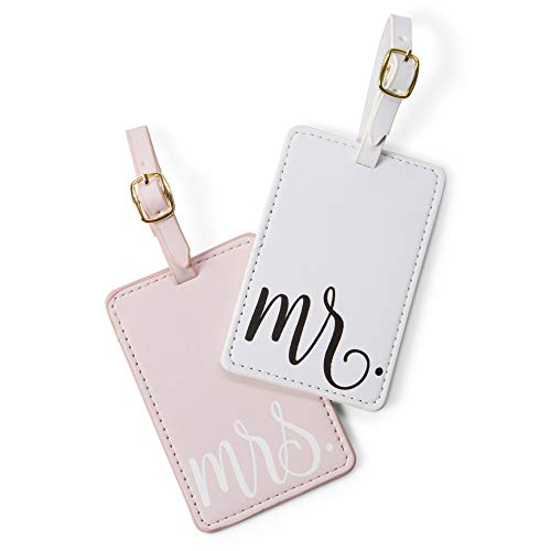 Tri-Coastal Design - Luggage Tags Mr. & Mrs.- Bride & Groom Name Tags, Travel Labels Essential for Suitcases During The Honeymoon