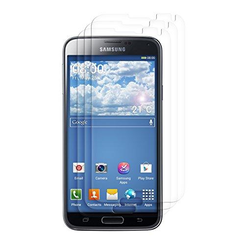 kwmobile Set de 3X película Transparente Compatible con Samsung Galaxy S5 / S5 Neo - Pack de Protectores de Pantalla para móvil