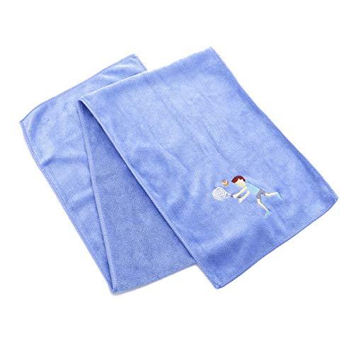 BESPORTBLE Trainingshandtuch Schnelltrocknendes Handtuch Kühltuch für Yoga Sport Gym Workout Camping Fitness Laufen Tennis Muster Blau (25X110cm)