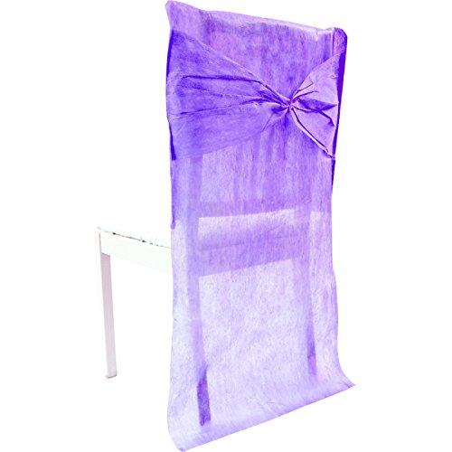 Visiodirect Lot de 20 décors de Chaise en intissé Coloris Prune - 50 x 95 cm