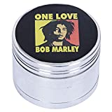 STONERS TOY® Weed Crusher/Weed Grinder Large Rasta BOB Marley - 52mm ONE Love