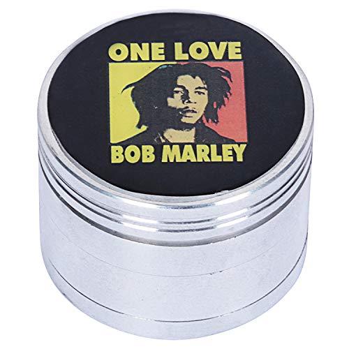 STONERS TOY® Weed Crusher/Weed Grinder Large Rasta BOB Marley - 52mm ONE Love Limited Edition