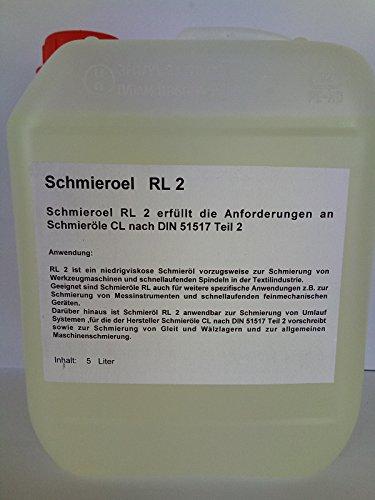 Schmieröl RL 2,Spindelöl Kanister 5 Liter