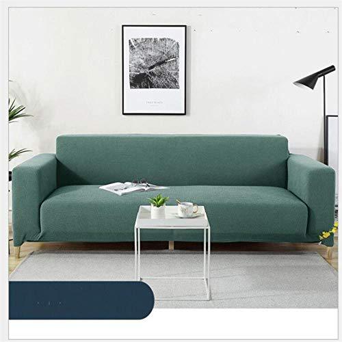 JIAYAN Funda de sofá Azul Funda elástica en L de algodón para Sala de Estar Fundas universales para sofá Cama Funda de sofá con Funda Angular 3 plazas-Verde, 1 Plaza 90x140cm, Francia