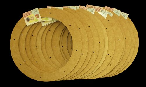 "12 Value Pack, 12"" Biodegradable Floral Craft Ring, Ez Glueable Wreath Form, for Photo Frame, Candle Ring, Etc"