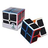 MUYAO Fibra de Carbono Cubo de Rubik de Segundo Orden - - Cubo de Rubik Mate Liso de Color Fluorescente (Color : 1636)