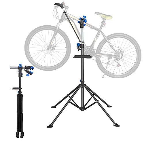 Yaheetech Soporte de Reparación de Bicicleta Caballete Plegable Altura Ajustable Caballete de Bicicleta
