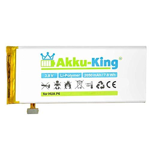 Akku-King Akku kompatibel mit Huawei HB3742A0E8C, HB3742A0EBC - Li-Polymer 2050mAh - für Ascend P6, P6-C00, G6, G6-L11