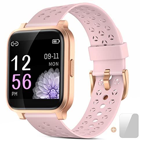 Smartwatch, Reloj Inteligente Mujer Impermeable IP68 con Pulsómetro, Cronómetros,Calorías,Monitor de Sueño,Podómetro Pulsera Actividad Inteligentes Smart Watch Hombre Reloj Deportivo para Android iOS
