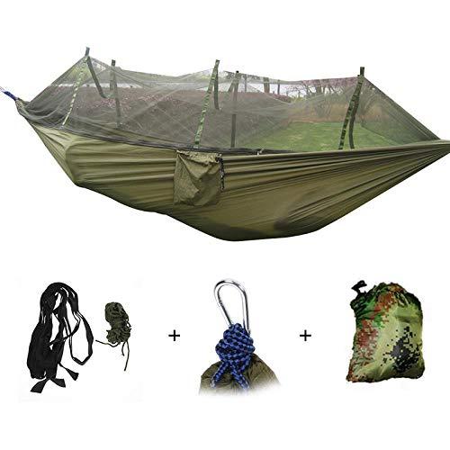 XTBB 1-2 Personne Portable Hamac Extérieur Camping Suspendu Lit De Couchage avec Moustiquaire Balançoire De Jardin Relaxant Hamac en Parachute