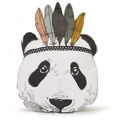 feilai Cojín de peluche para sofá o cama, diseño de panda indio para regalo (color: multicolor)
