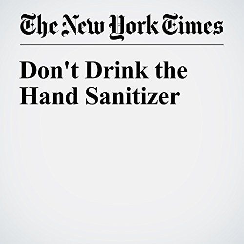Don't Drink the Hand Sanitizer cover art