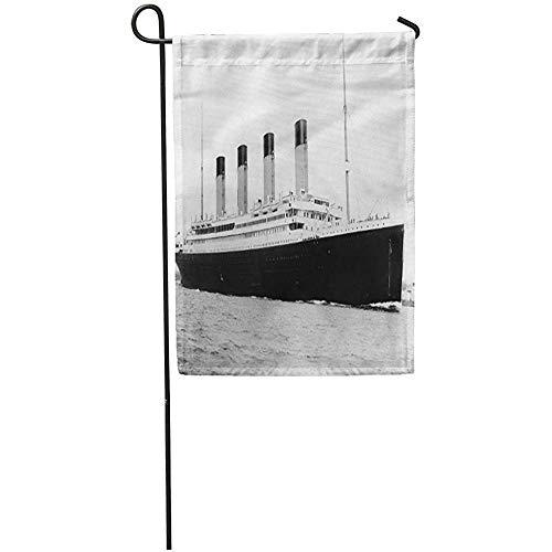 Zome Lag Tuin Vlaggen Seizoen Vlag Banners 32X45.7CM Fotografie Rms Titanic Beroemde Oude Vintage Historische Outdoor Decoratieve Huis Yard Vlag