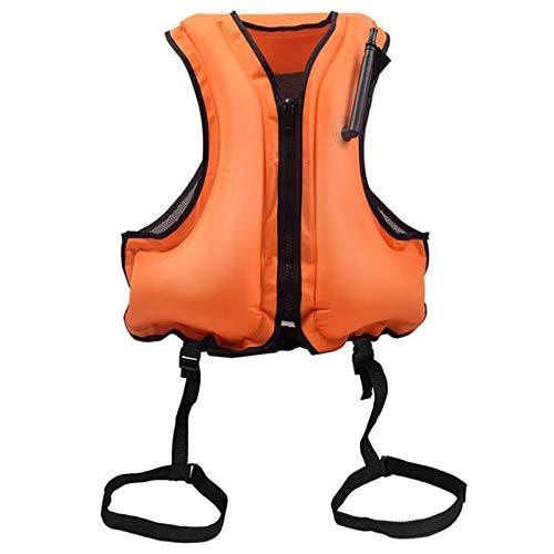 æ— Chaleco inflable para esnórquel, chaleco de natación para adultos, chaleco de natación para esnórquel, remo y otros deportes acuáticos de bajo impacto